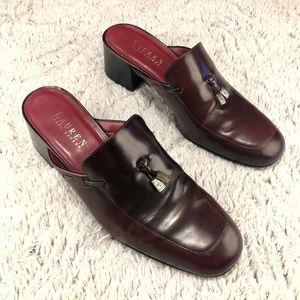 Ralph Lauren Wms 7.5 Cordovan Leather Dress Shoes.